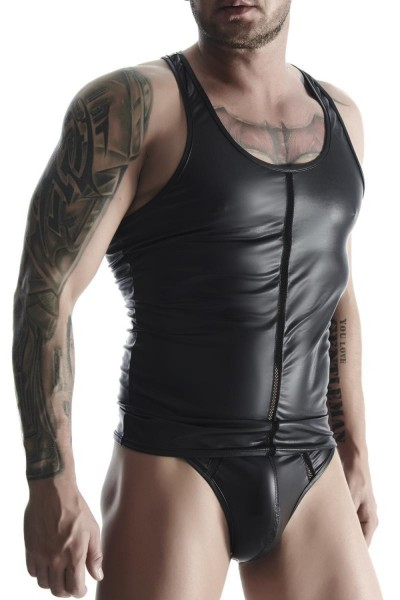 Regnes Fetish Planet Herren Muscle-Shirt im Wetlook M575