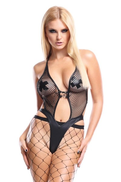 Demoniq Damen Teddy im Wetlook M359