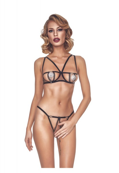 anais apparel Damen BH-Set ouvert
