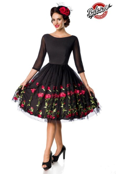 Belsira Damen Vintage Swingkleid
