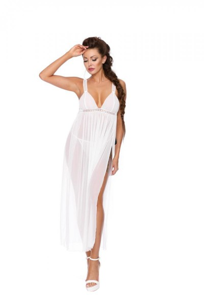Excellent Beauty Damen langes Chemise mit String M351