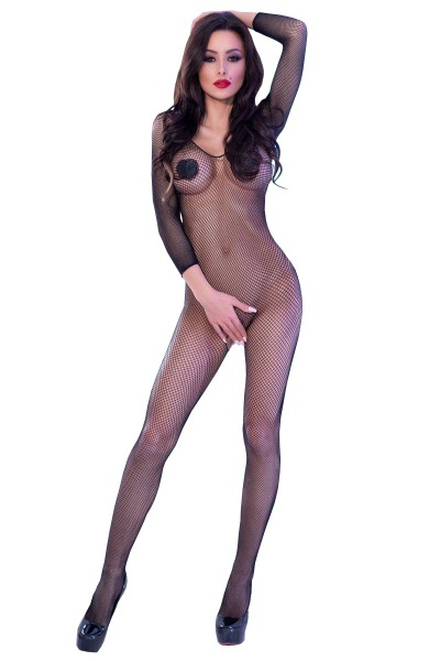 Chilirose Damen Bodystocking ouvert