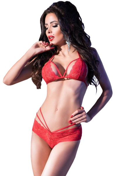 Chilirose Damen BH-Spitzen-Set