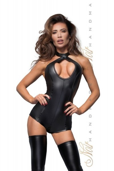 Noir Handmade Damen Body im Powerwetlook